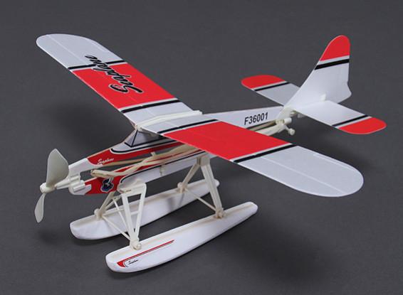 ビーバー水上飛行機ゴムバンドはFreeflightモデル468ミリメートルスパンパワード