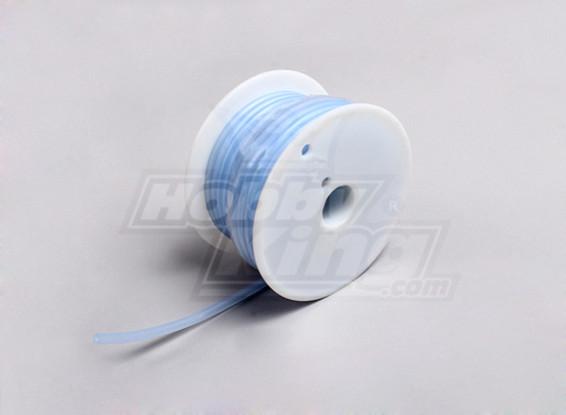 シリコン燃料パイプ - 透明なブルー -  2.4x5.2mm(15メートル)