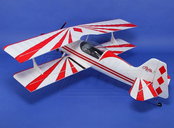 ピッツ12 EPO 1600ミリメートルワット/ブラシレスモーター&サーボ(ARF)(赤/白)