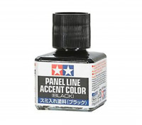 Tamiya Enamel Panel Line Accent Color Black (40ml)