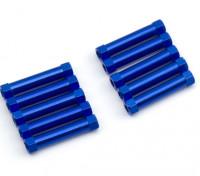 軽量アルミラウンドセクションスペーサーM3x25mm(ブルー)(10個入り)