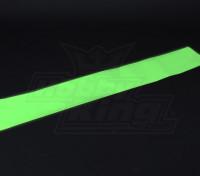 発光(暗闇で光る)自己粘着フィルム(グリーン) -  1200ミリメートルX 200ミリメートル