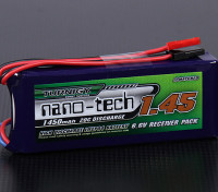 Turnigyナノテクノロジー1450mAh 2S1P 20〜40℃のLiFePO4受信機パック