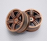 1:10スケール高品質ツーリング/ドリフトホイールRCカー12ミリメートル六角(2PC)CR-RS6G