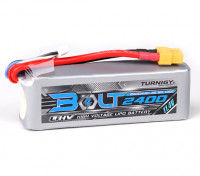 Turnigyボルト2400mAhの3S 11.4V 65〜130℃の高電圧Lipolyパック