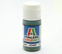 イタレリアクリルペイント - フラットミディアムグリーン1