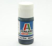 イタレリアクリルペイント - フラット非鏡面シーブルー