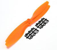 Turnigy Slowflyプロペラ10x4.5オレンジ(CCW)(2個)
