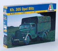 イタレリ1/35 KFZ。 305オペルブリッツスケールパスティックモデルキット
