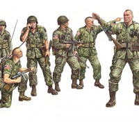 イタレリ1/35スケール米国落下傘兵プラスチックモデルキット(6PC)