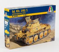 イタレリ1/35スケールSDです。 Kfz.140 / 1 Aufklarungsp.38(T)プラスチックモデルキット