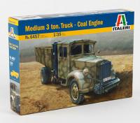 イタレリ1/35スケール中3トントラック石炭エンジンプラスチックモデルキット