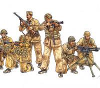 イタレリ1/35スケールイタリアの落下傘兵、戦闘グループのプラスチックモデルキット