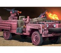 イタレリ1/35スケールSAS偵察車ピンクパンサープラスチックモデルキット