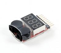 HobbyKing™リポ電圧チェッカー(2S〜8S)