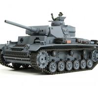 III号戦車Ausf.L(グレー)RCタンクRTRワット/エアガン&のTx(EUプラグ)(EU倉庫)
