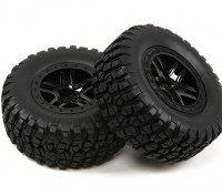 1/10スケール5スポークスプリットスタイルショートコーストラックのホイール&タイヤ(2PC)