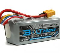 Turnigyボルト1300mAh 6S 22.8V 65〜130℃の高電圧Lipolyパック(LiHV)