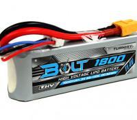 Turnigyボルト1800mAhの3S 11.4V 65〜130℃の高電圧Lipolyパック(LiHV)