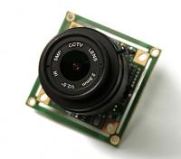 QUANUM 700TVLソニー1/3 CCDカメラ2.8ミリメートルレンズ(PAL)
