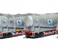 Southern Rail HO Scale 4 Car Set NSW NPRY/PRX Cement Hoppers with PTC Blue L7 Logo Series 2 (18221Q)