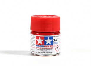 Tamiya X-27 Clear Red Acrylic Paint (10ml)