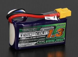 Turnigyナノテクノロジー1300mAh 3S 45〜90Cリポパック