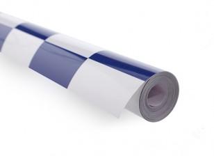 カバーリングフィルム大きなパターングリル-ワークブルー/ホワイト(5mtr)