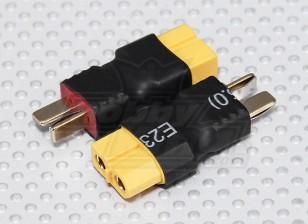 XT60電池アダプターのリードにT-コネクタ(2PC)