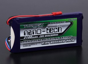 Turnigyナノテクノロジー2100mAh 2S1P 20〜40℃のLiFePO4受信機パック