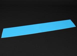 発光(暗闇で光る)自己粘着フィルム(ブルー) -  1200ミリメートルX 200ミリメートル