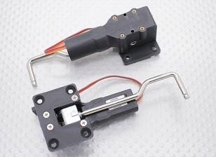 小型モデル32ミリメートルX 25ミリメートルマウント用メタルトラニオンとServolessリトラクト(2個)