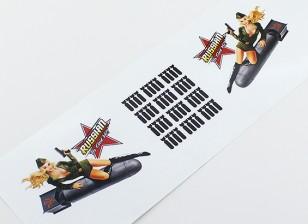 ノーズアート - 「ロシアTaは雅をゲット!」 L / Rハンドデカール