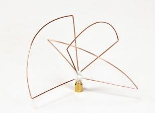 円偏1.2GHzの送信機アンテナ(SMA)(LHCP)(ショート)