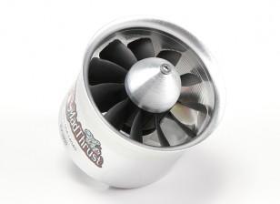 1300ワット(4S)カウンターが回転 - 博士マッドは70ミリメートル11-ブレード合金EDF 3900kvモーターをスラスト