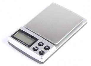 デジタルポケットは0.01グラム/ 200グラムを拡大縮小します