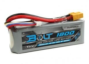 Turnigyボルト1800mAhの4S 15.2V 65〜130℃の高電圧Lipolyパック(LiHV)