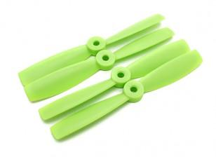 ダイヤトーンブルノーズプラスチックプロペラ5×4.5(CW / CCW)(緑)(2ペア)
