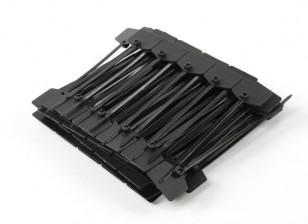 ケーブルタイマーカータグと120ミリメートルx 3mmのブラック(100本)