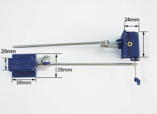 機械が後退3.5ミリメートルX 140ミリメートル長い(PAIR)