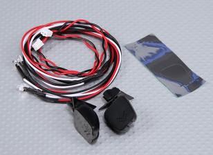 LED付きルームミラー(2PC)