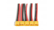XT60 Male w/12AWG 100mm Silicone Wire (5pcs)