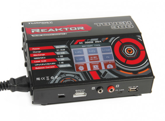 Turnigy Reaktor Touch 300 AC/DC 20A 1~6S 300W Touch Screen Balance Charger (US Plug) 1
