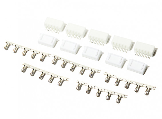 5 Pin (4S) JST-XH Balance Connectors Male/Female (5 pairs)