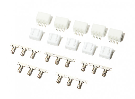 3 Pin (2S) JST-XH Balance Connectors Male/Female (5 pairs)