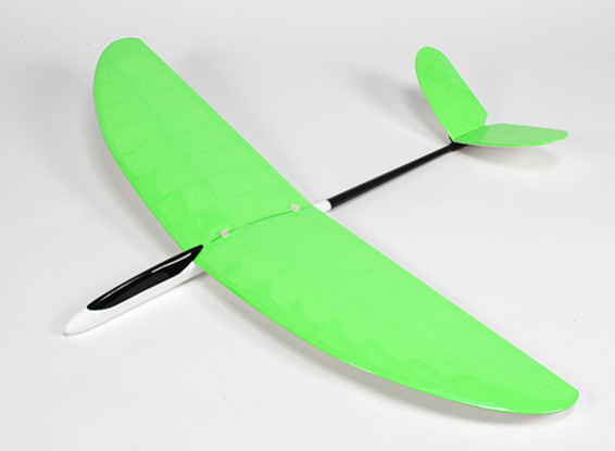 SCRATCH/DENT - Butterfly Pod and Boom V-Tail Glider Built up Wing 1140mm - Green (ARF) E1147
