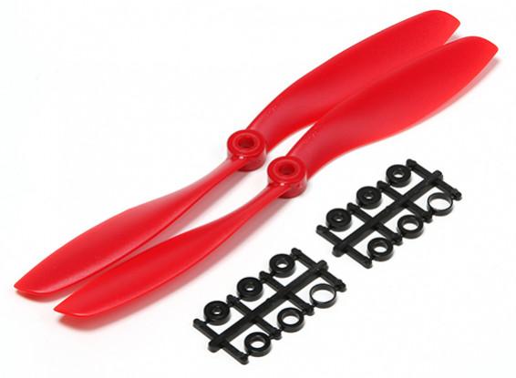 Turnigy Slowfly Hélice 8x4.5 Red (CCW) (2pcs)