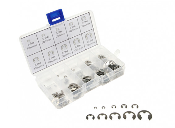 Assorted E-clipes na caixa plástica (120pcs)