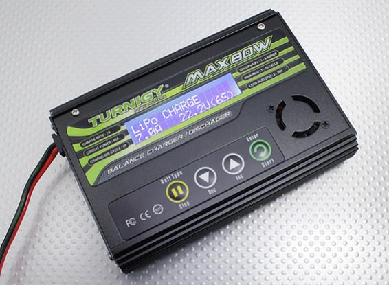 Turnigy MAX80W 7A Lithium Polymer carregador de bateria