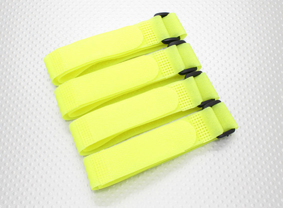 Battery Strap 400X20mm (amarelo) (4pcs / saco)